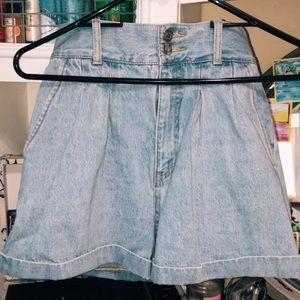 Forever21 jean parachute shorts